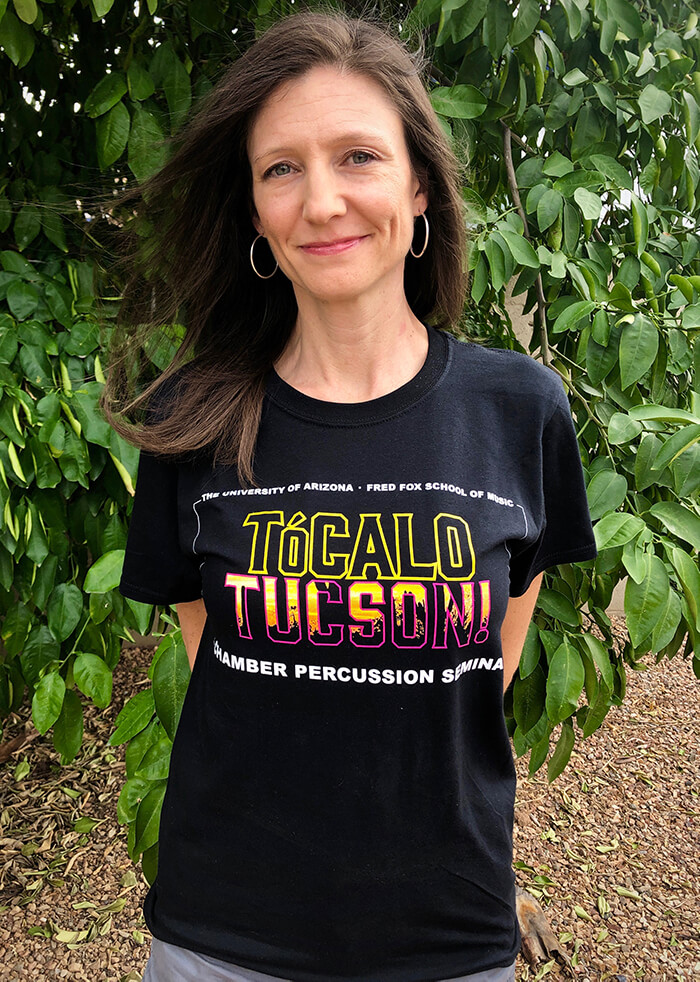 Photo of Tiffney wearing Tocalo Tucson t-shirt